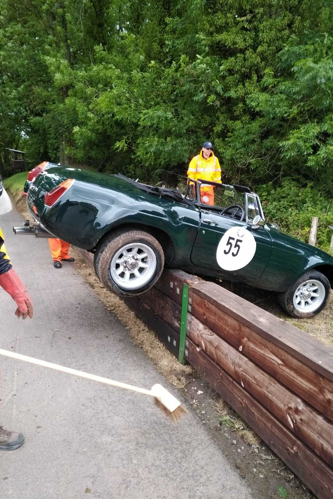 Council chairman crashed his car at hill climb event