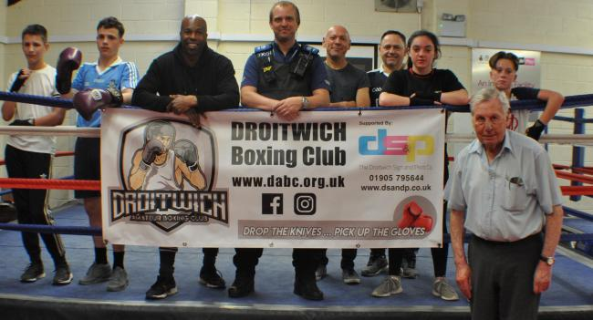 SUPPORT: Drop the Knives, Pick up the Gloves campaign is aimed at getting youngsters off the streets and turn to boxing instead of knife crime