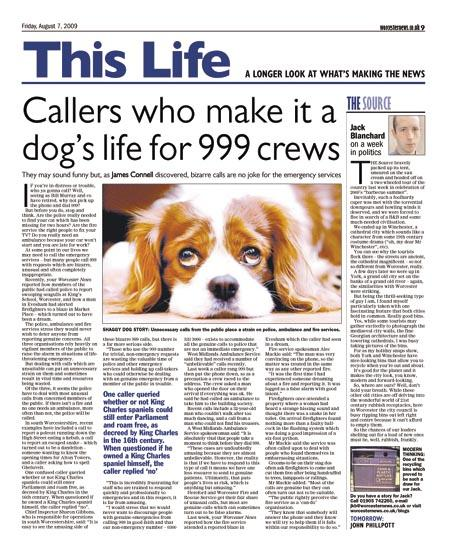 Callers who make it a dog's life for 999 crews   Worcester News