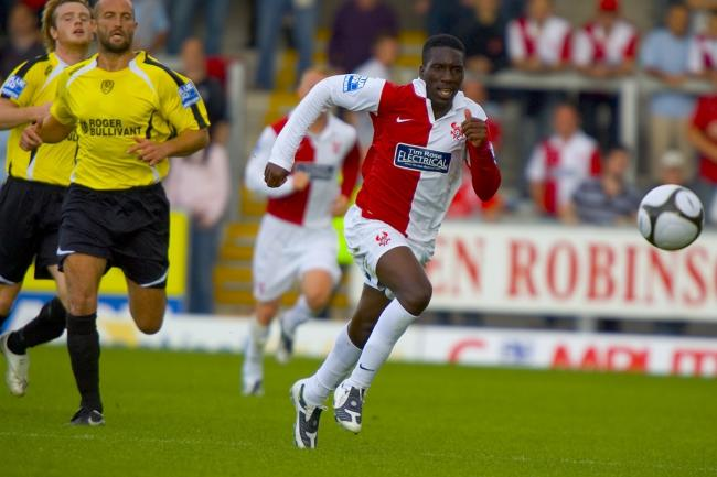 Brian Smikle in his Kidderminster Harriers days. Picture: ADRIAN HOSKINS