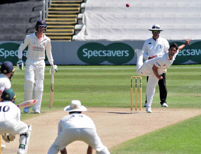 Spinner Brett D'Oliveira claimed four wickets for Worcestershire at Glamorgan. Picture: JONATHAN BARRY