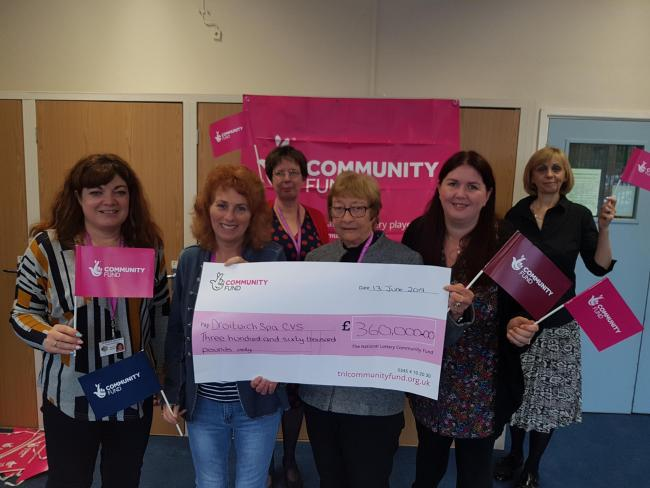 HAPPY: Staff from Droitwich CVS are celebrating after being awarded £360,000 in National Lottery funding to support its work with young people