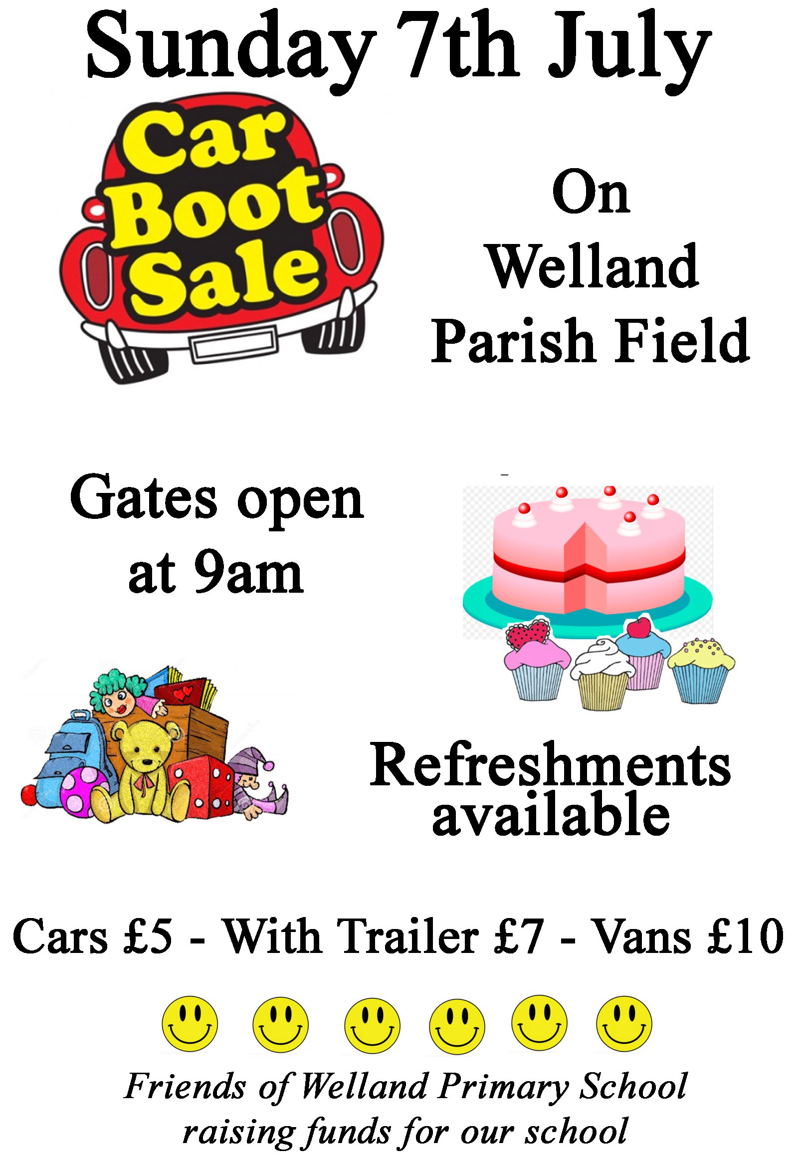 Friends of Welland Primary School Car Boot Sale
