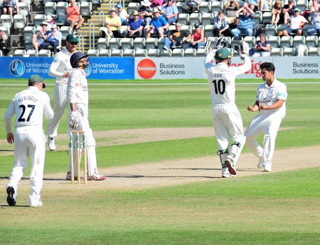 Brett D'Oliveira (right) enjoyed a stellar display for Worcestershire in the draw at Glamorgan. Picture: JONATHAN BARRY