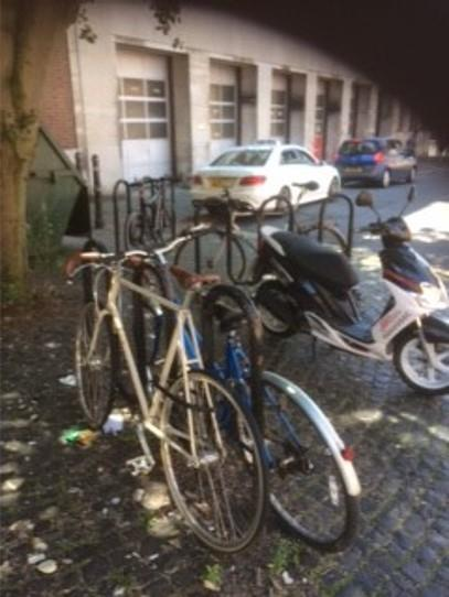 "FINED: An angry moped owner has vowed to never return to the city centre over a ""petty"" fine for parking his moped next to a cycle rack"