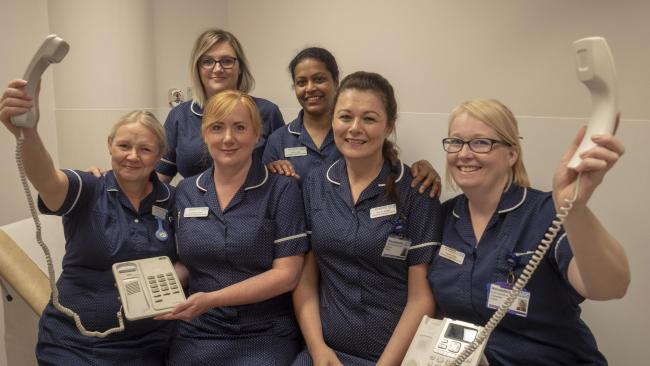 ?	Specialist Nurses from the Colorectal nursing team at Worcestershire Acute Hospitals NHS Trust