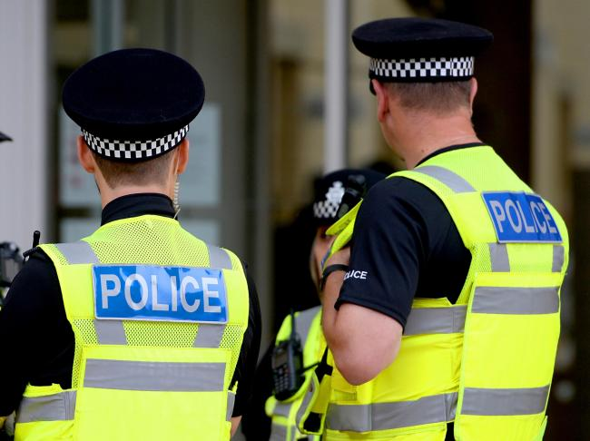 "Embargoed to 0001 Thursday October 25 File photo dated 15/09/16 of police officers. Policing is at risk of becoming ""irrelevant"" as neighbourhood presences are stripped back and vast numbers of crimes go unsolved, a major new report warn"