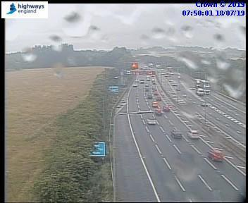 Broken down vehicle causes M5 delays with one lane closed