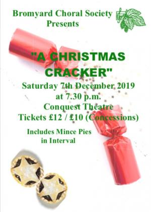 Live on Stage. Bromyard Choral Society: A Christmas Cracker