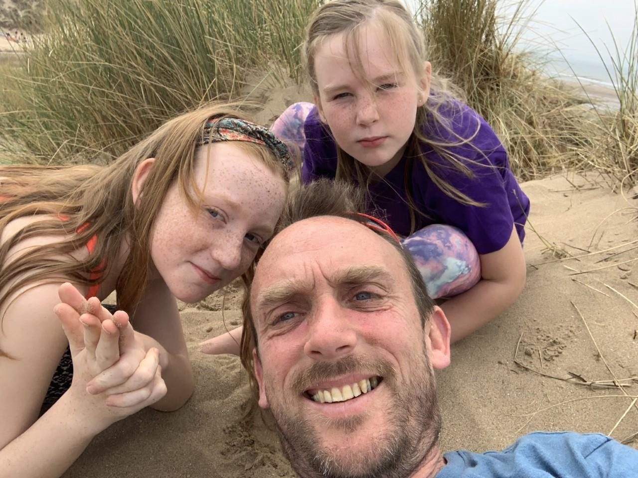 Family's messy run for St Richard's Hospice