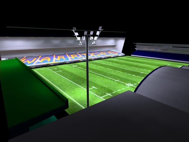 An artist's impression of the new floodlighting system. Picture: WORCESTER WARRIORS