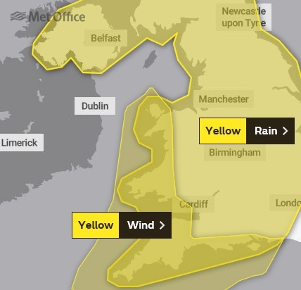 Yellow weather warnings in place as wind and rain sweep across Worcestershire