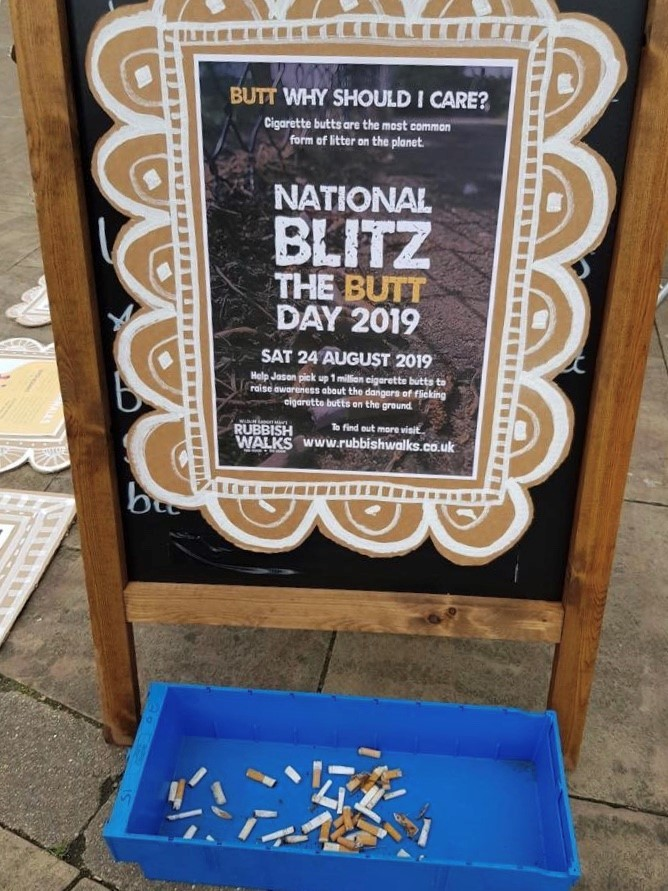 132 cigarette butts collected in just 10 minutes in Worcester litter pick