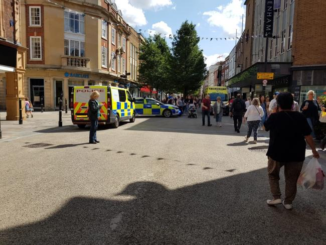 EMERGENCY SERVICES: The emergency services in High Street, Worcester