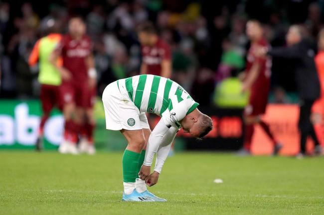 Leigh Griffiths appears dejected after the final whistle
