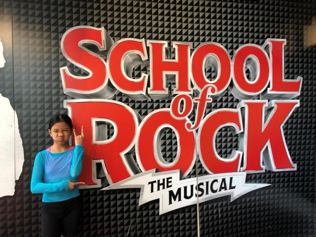 Ten-year-old Bea Ward from Leominster is playing Tomika in School of Rock. Photo: Rory Neal-McKenzie