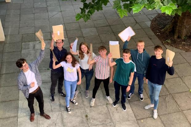 RESULTS: Pershore High School sixth formers celebrate