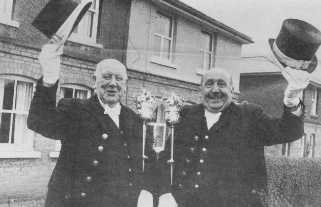 TODAY'S picture from the archive of the Worcester News dates back to December 1989 and shows two of the city council's mace bearers, Jack Ford (left) and Cliff Smith, who lived next door to each other in Glenthorne Avenue, Brickfields, and between