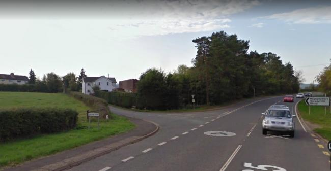 Dale Hardman was found with the weapons in Wormbridge. Photo: Google.