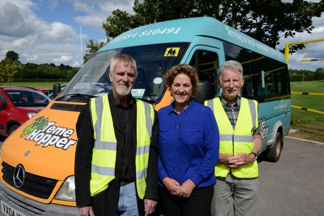 Tenbury Transport Trust is set to pilot a new scheme in conjunction with Tenbury Town Council...from left: Volunteer Driver Tony Meredith, Manager Wendy Schuster, Chairman John Driver. 1732_10001.