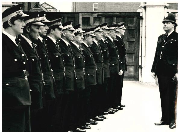 TODAY'S picture comes from May 1971 and shows some of Worcester's traffic wardens with the officer in charge, one PC H R Venn, right. The wardens on parade were described in the Evening News as, from left, Miss J E Houghtey, Messrs P Draper, A G P