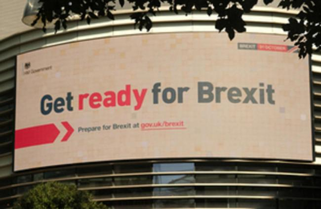 ADVERTS: The get ready for Brexit government adverts. PA Wire