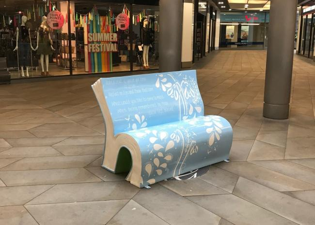 The legacy bench in place at Crowngate shopping centre