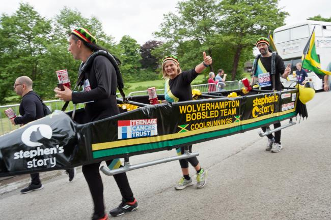 Jane Sutton and the Wolverhampton Bobsled Team at the Great Midlands Fun Run (photo  by Najm Clayton)