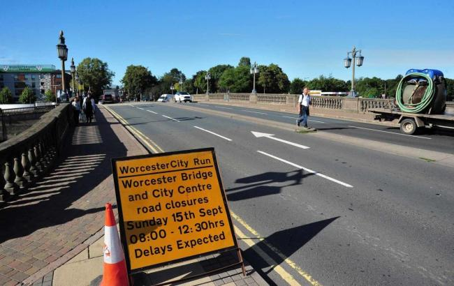 CLOSED: A number of roads and streets will be closed to allow for the Worcester City Run