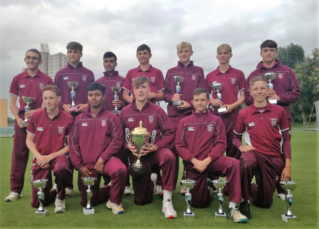 The under 17s national cricket champions. Picture: BROMSGROVE SCHOOL