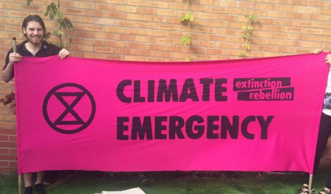 PROTEST: Members of Extinction Rebellion in Worcester say they will block a street this week