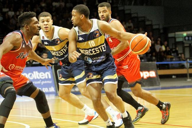 Action from Worcester Wolves' win at Bristol Flyers. Picture: KEITH HUNT