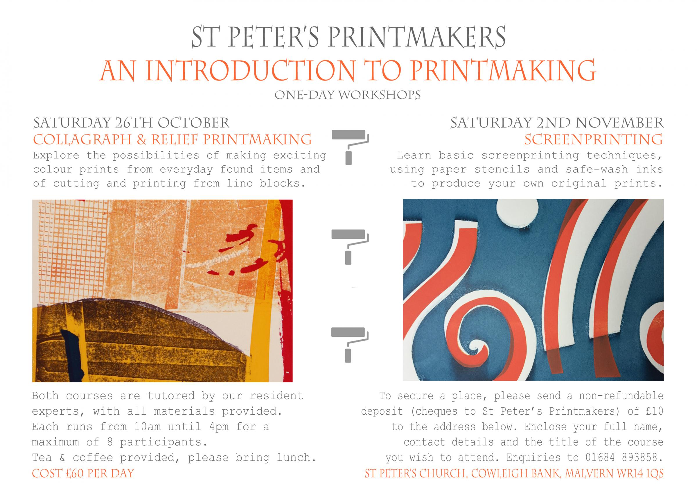 Introduction to Printmaking - Collagraph & Relief Printmaking