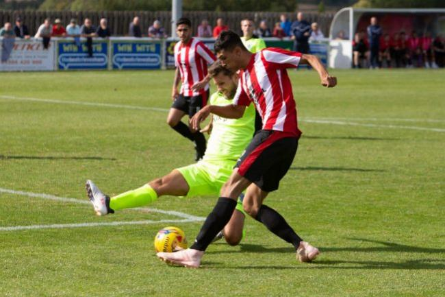 ELIGIBILITY ISSUE: Evesham United's Kai Tonge. Pic: stuartpurfield.co.uk