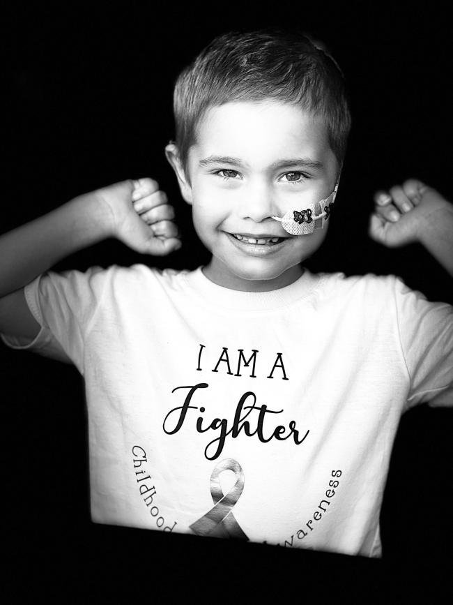 WARRIOR: Oscar Saxelby-Lee has undergone a gruelling 18 months as he fought a rare and aggressive form of leukaemia but he, and his family, have refused to give up