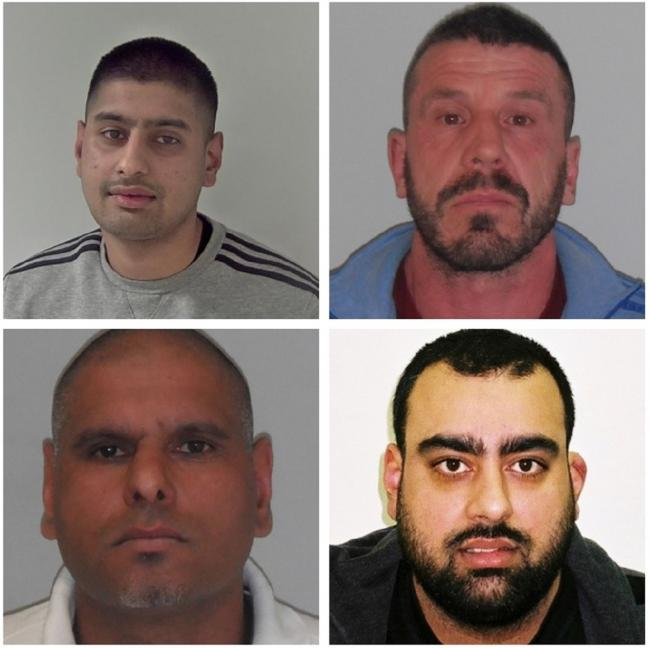 GUILTY: Clockwise from top left are: Aaqib Nasar, Robert Degaris, Steven Binning and Mohammed Nasar. Photos: West Mercia Police.