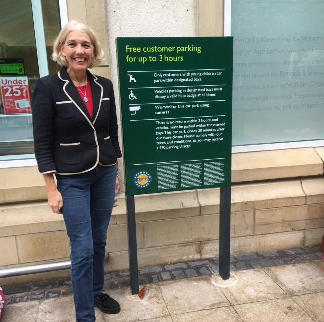 PARKING: Beverley Nielsen at the Waitrose Malvern car park
