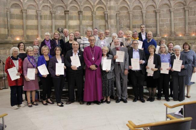 The people who received their certificates.