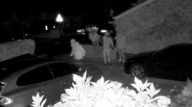 CONCERNS: CCTV image of offenders in Sebright Avenue. Pic: Becki Smith