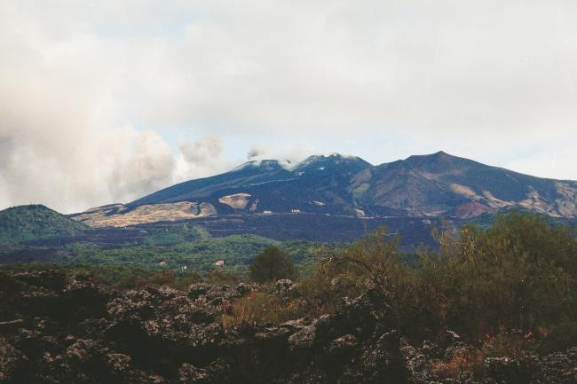 Mount Etna, Sicily. The lava may flow quite freely but the music certainly doesn't. Picture by John Phillpott.