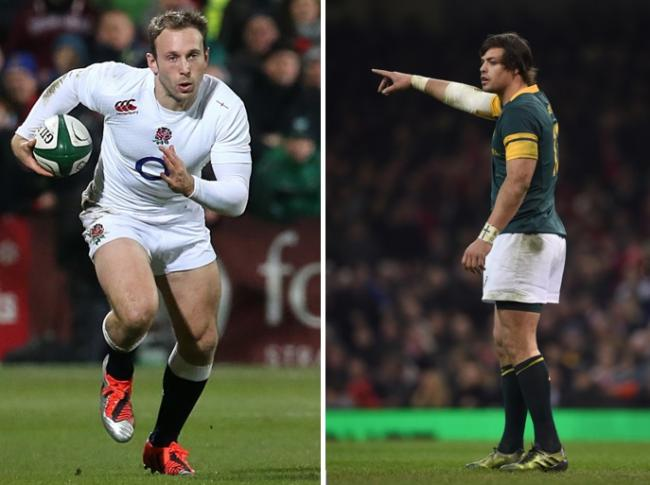 England's Chris Pennell, left, and South Africa's Francois Venter, right. Pictures: NIALL CARSON/PA IMAGES & JOE GIDDENS/PA IMAGES