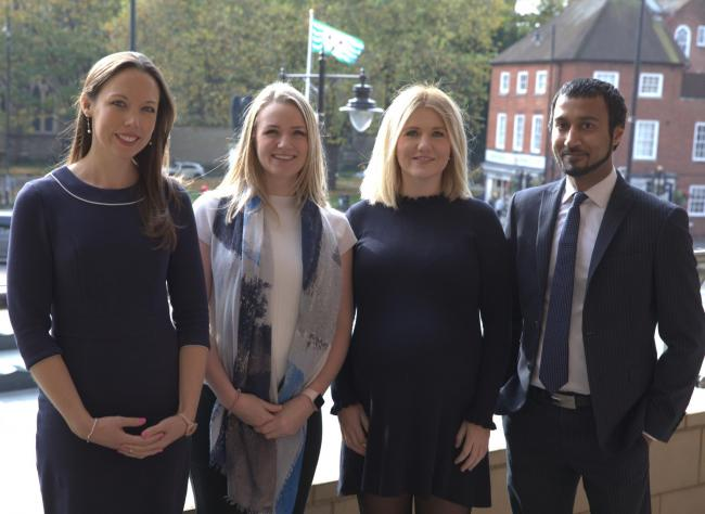 PROMOTED: Rachel Parkin, Rachel Roberts, Jenny Staples and Syed Alam from Harrison Clark Rickerby's