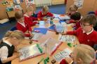 AMBITIOUS: Pupils working hard at Crowle C of E First School
