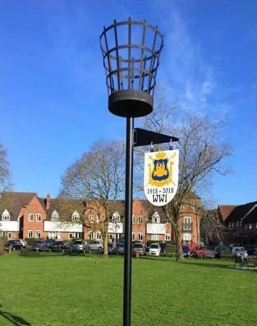 On Sunday evening the beacon will be lit by Alcester Royal British Legion chairman Mike Gittus and mayor Gill Forman