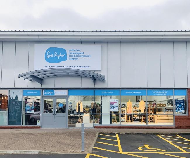 The new Sue Ryder Redditch superstore.