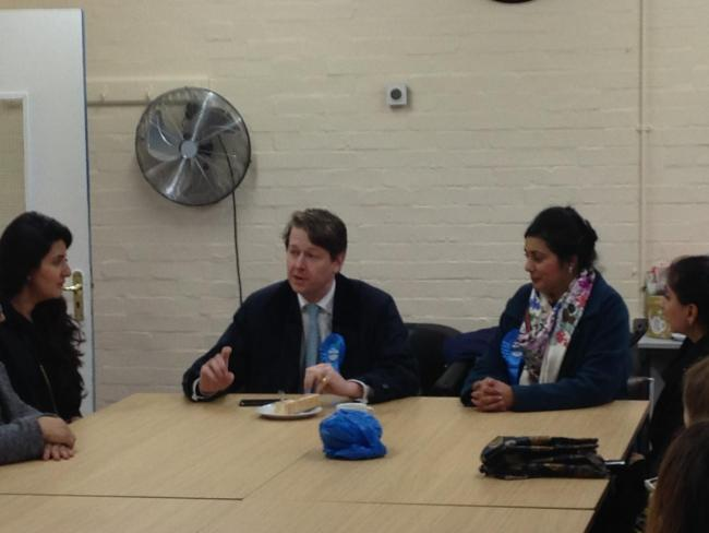 VISIT: Robin Walker, Conservative parliamentary candidate for Worcester (left) with Nus Ghani, taxi minister in Worcester on Thursday (November 14)