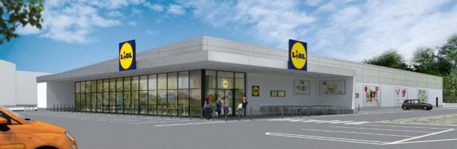 SUPERMARKET: An artist's impression of the new Lidl supermarket off Droitwich Road in Worcester