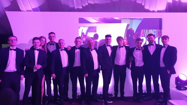 WINNERS: The DRPG group at the apprenticeship awards