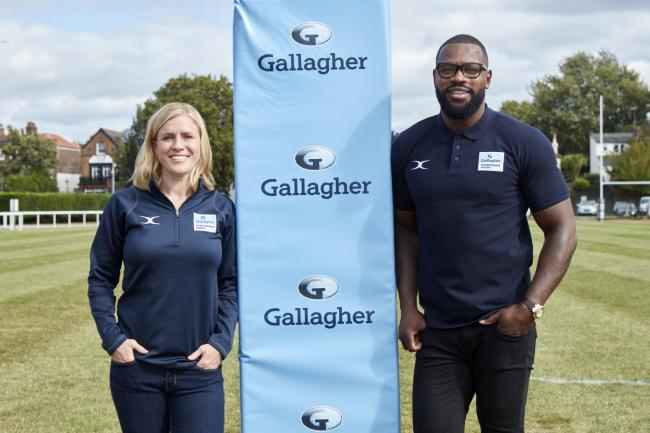 Danielle Waterman and Ugo Monye. Picture: Oli Hillyer-Riley/Gallagher