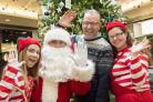 Ho,ho, ho:  Mike Lloyd, centre manager at Crowngate Shopping Centre, invites Worcester to meet Santa and his helpers this Sunday.